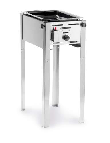 Hendi 154700 Grill-Master Mini Gasgrill, Edelstahl
