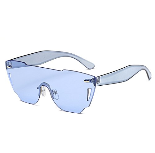 ZYPMM 2017 Europa und die Vereinigten Staaten Mode Damen Sonnenbrille neue Strand Brille ozeanischen Film Stück der einzelnen Sonnenbrillen ( Color : Blau )
