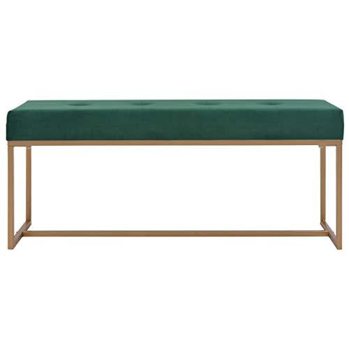 Tidyard- Samtbezug Sitzbank Bank Perfekt für Esszimmer und Schlafzimmer und als Deko Bank | Erhältlich in grau, Lila, Beige Farben | 120 x 36 x 51 cm (B x T x H) -