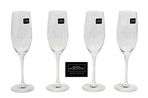 Glas Champagner / 4-er Set ROYAL WORCESTER / Sekt Gläser / Kwarx / Multifunktionell