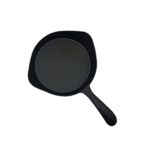YFK 18cm cast iron pot small pan thickened pig iron steak frying pan no coated non-stick pan universal
