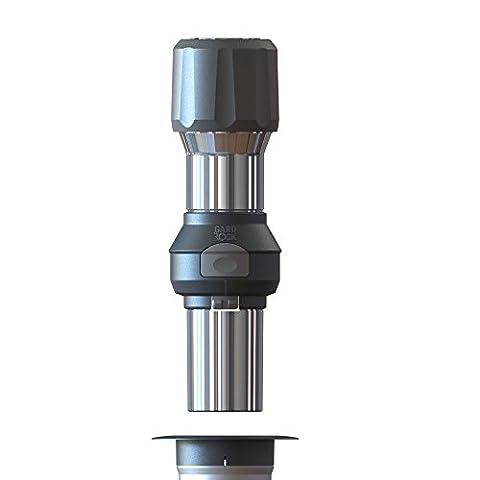GARD&ROCK - Adaptateur de fixation de mât Ø20/50mm en aluminium - Multi-terrains à clipser sur la base d'ancrage - Quick Fixation