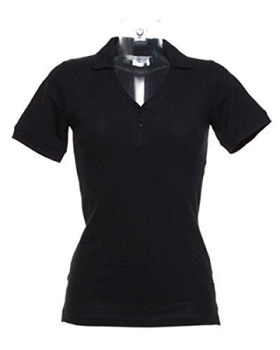 Kustom Kit Damen Poloshirt * Einheitsgröße Schwarz
