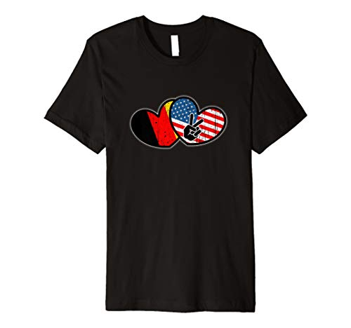 Deutsch-Amerikanischen T-Shirt - Old Glory American Flag