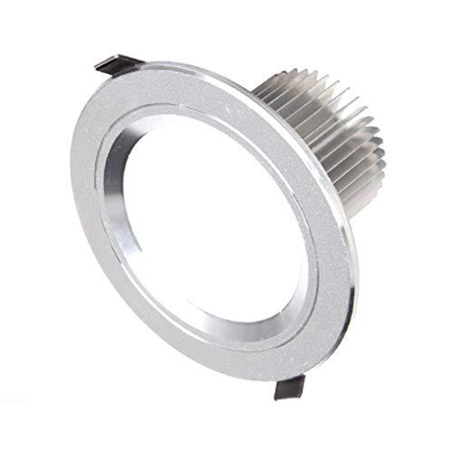 leoboone LED-2,5-Zoll-Einbaueinbau Indoor-Deckenleuchte Spot-Licht Runde Aluminiumlegierung Hintergrund-Wand Wohnzimmer Lampen