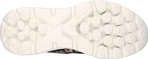 Skechers Go Run 400, Chaussures de Sport Femme Black/Natural Leopard