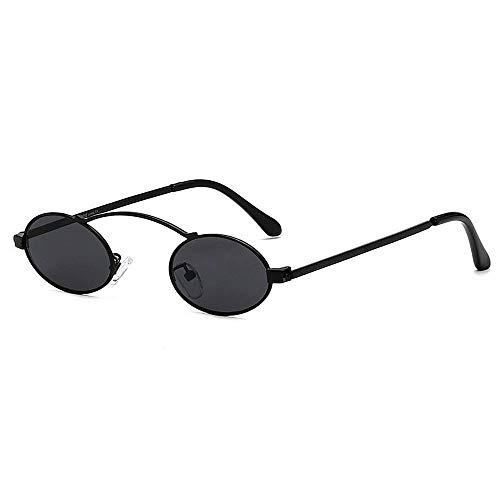 JFFFFWI Stilvolle Sonnenbrille für Frauen metallrahmen kleine ovale Form Sonnenbrille für Frauen männer uv-Schutz farbige linse Outdoor Fahren Reisen Sommer Strand uv-Schutz Sonnenbrille (Farbe: c5)