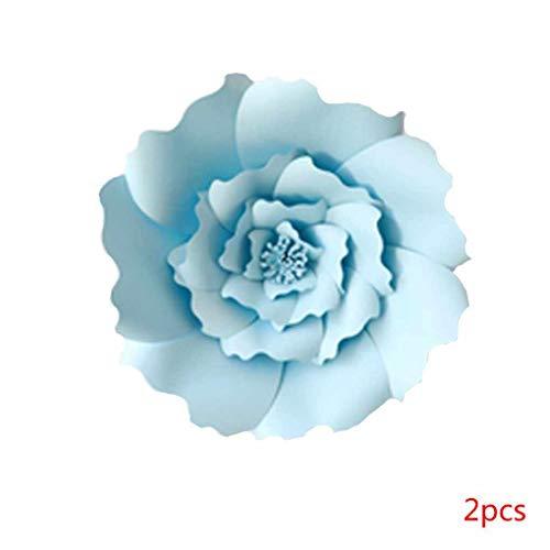 Kakiyi 1pcs / 2ST 20cm 30cm DIY Papierblumen-Kinder Foto Hintergrund Künstliche Blumen Hochzeit Geburtstag Party-Ausgangswand-Dekoration