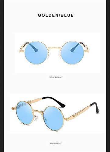 Wang-RX Mode Frauen Sonnenbrillen Runde Retro Brille Für Frauen Männer Metall Frühling Sonnenbrille Damen Vintage