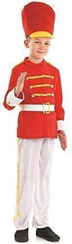 Nussknacker Für Jungen Kostüm - Fancy Me Jungen süß Dose Spielzeug Soldaten Kleiner Schlagzeuger Weihnachten Weihnachten Nussknacker Welttag des Buches Woche Karneval Kostüm Verkleidung Outfit 4-12yrs Jahre - 8-10 Years