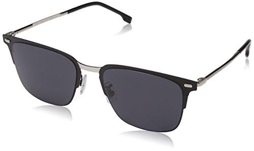 Hugo boss boss 0951/f/s ir 003 56 occhiali da sole, nero (matt black/gy grey), uomo