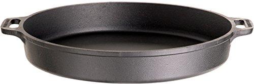 Gusseisenkuss Pfanne aus Gusseisen, Schwarz, Ø 60 cm