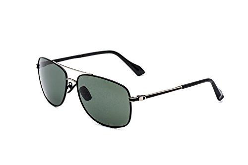 32bee05844 CHB Hombres Gafas de Sol Aviador Ligeras Polarizadas Con Estuche de Gafas  Marco Metal Protección UV