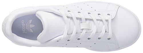 adidas Stan Smith J, Chaussures de Tennis Mixte Enfant Blanc