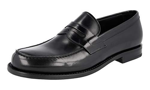 Prada 2DA061 Herren Leder-Business-Schuhe, Schwarz (schwarz), 46 EU