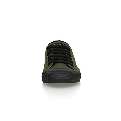 Ethletic Black Cap vegan LoCut - Farbe camping green / black aus Bio-Baumwolle Größe 42 - 6
