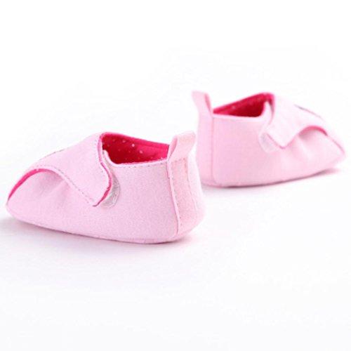 Hunpta Krippen Kleinkind Schuhe weich unten niedlichen Tiere gedruckt Schuhe Freizeitschuhe Rosa