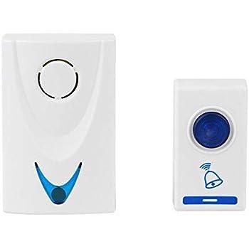 Gesto Baoji Plastic Wireless Remote Control Door Calling Bell (White)