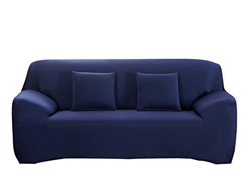Hotniu copridivano elasticizzato, fodera per divano universale, sofa mobili copertura protettore antiscivolo, ideale per poltrone, divani a 2 3 4 posti (3 posti per 195-230cm,marina militare)
