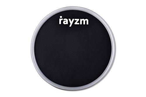 Rayzm Almohadilla Portátil Tambor, Sonido Realista - Almohadilla de Goma de 15cm para ensayar en silencio, Adhesivo Lavable y Reutilizable.