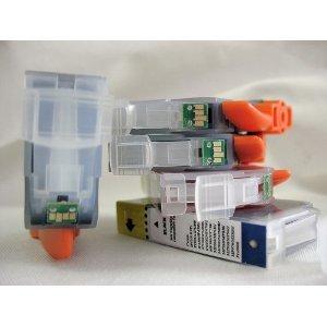 Ix5000 Farbe (10 Druckerpatronen-Set Mit CHIP für Canon Pixma IX 5000 - 4x bk breit + je 2 x je Farbe) kompatibel für IX5000 Tintenpatronen)