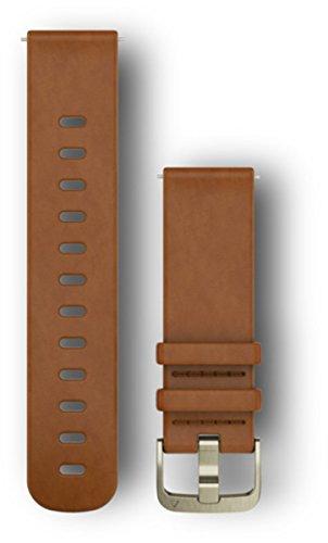 Garmin Lederarmband Schnellwechsel-Armband (Leder), Hellbraun, M