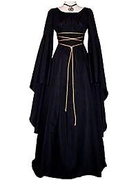 Yukeyy Vestido Vintage De Damas Medievales Disfraz Renacentista Disfraz De Cosplay De Halloween