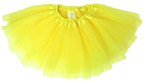 geborenen Tüllrock Tutu für 0 bis 24 Monate Gelb 0-5 Monate (Ariel Kleider Für Kleinkinder)