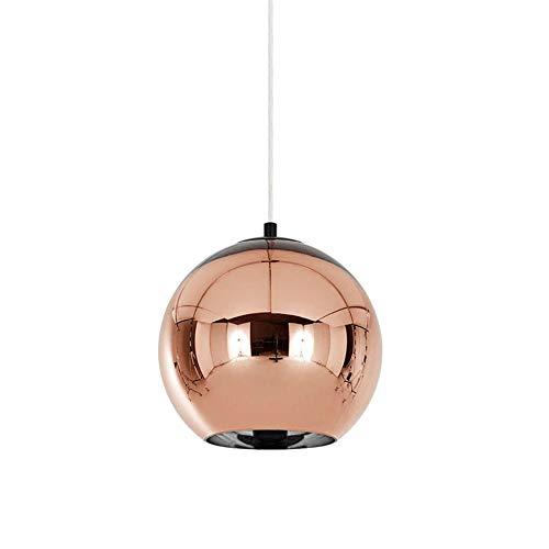 HoaLit Kugel Mini Pendelleuchte Glas Klar, E27 Bronze Hängeleuchte Für Küche Restaurant Dekoration Pendellampe-30cm - Fantasy-bronze-kronleuchter