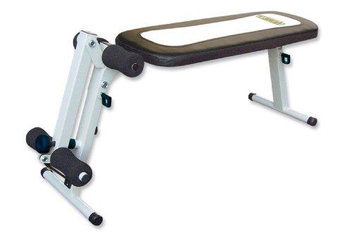 ROVERA AB Leg Panca per Addominali con Leg-Extension a Resistenza Elastica, Pieghevole