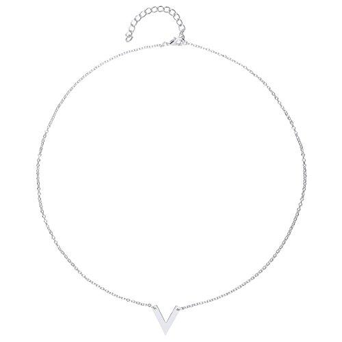 front-row-silver-colour-single-chevron-necklace-of-length-48-53cm