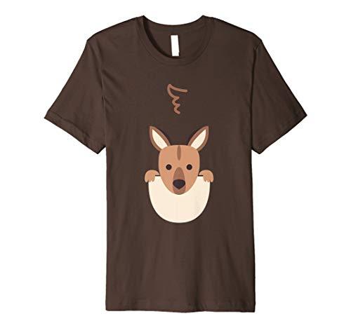 Süßes Känguru T-Shirt Halloween Kostüm für Kinder & Erwachse (Känguru Kind Kostüm)