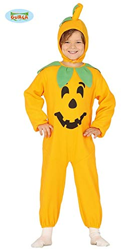 Kinder Kürbiskostüm Kostüm Kürbis für Kinder Halloween Jumpsuit orange Gr. 98 - 128, Größe:110/116