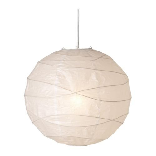 IKEA 5054186167236 REGOLIT Abat-jour suspension, Papier, Blanc