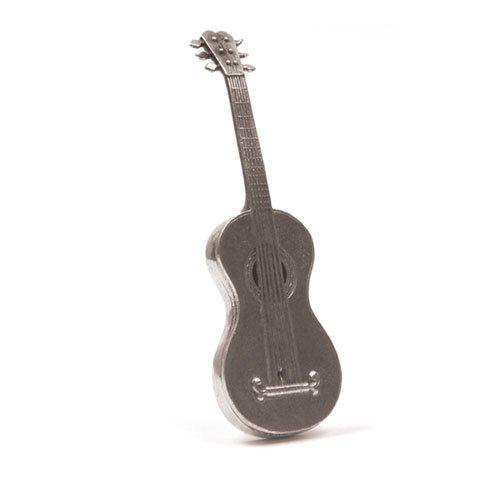 Gitarre Miniatur–Figur aus Zinn 95,5%–Französisches Produkt (Französisch Gitarre)