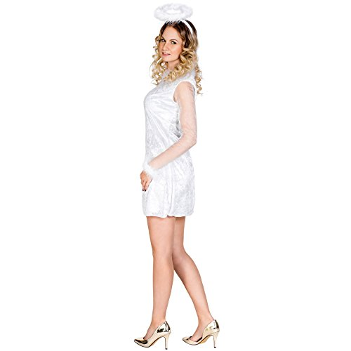 Imagen de disfraz de mensajero del cielo para mujer ángel | vestido que realza la figura y suave aureola l | no. 300248  alternativa