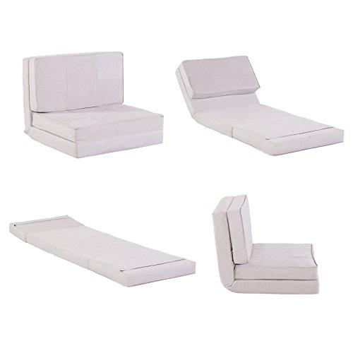 Klappmatratze / Multifunktionsmatratze in grau - Gästebett / Sessel-Liege für Kinder und Reisen