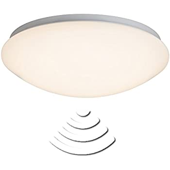 Sensor Light, LED Ceiling Light 33 Cm IP44 Splashproof, 12 W, 820  Lumens/3000 K Warm White