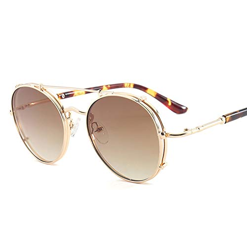 Thirteen Sonnenbrille Weibliche Runde Gesichts-Anti-UV-Brille, Kann Zum Dekorieren Von Fahrten Verwendet Werden Und Ist Für Eine Vielzahl Von Gesichtstypen Geeignet. (Color : B)
