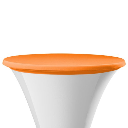 Stehtischbezug Dena Samba | Orange | Ø70cm | Deckel für Stehtische