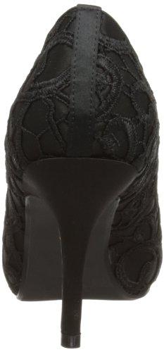 Lunar Flr213, Escarpins Bout ouvert Femme Noir (Black)