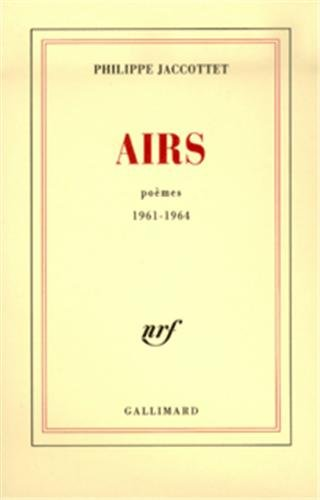 Airs : Poèmes, 1961-1964