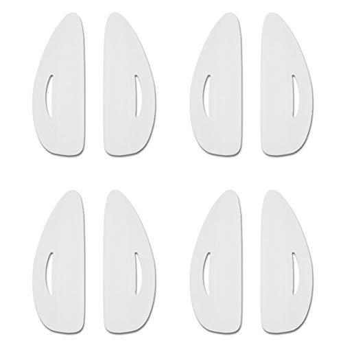 8pcs Silikon Durable 4 Größen False Eyelash Pad, 8 stücke Silikon Durable 4 Größen Falsche Wimpernzange Curling Lifting Gefälschte Wimpern Pad -