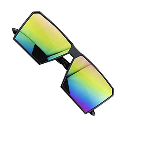 Deinbe Große Rahmen Retro-Sonnenbrille Retro-Platz Brillen Männer Jungen Frauen Mädchen Brillen Street UV400