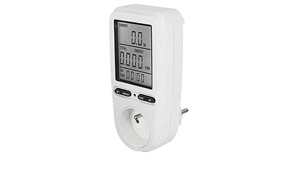 PR10-D FR16A Plug Wattm/ètre Compteur Mesure Dossier Alarme Calendrier 0,1~4000w