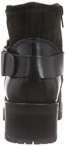 Buffalo Es 30612 Trend Plisse Mask, Bottes de motard courtes, doublure froide femme Gris - Grau (GRIGIO 04)
