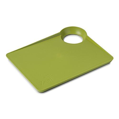 Zeal nutriboard Cocina Tabla de Cortar con Base Antideslizante, Color Verde Lima, 33,5x 25,5x 3cm