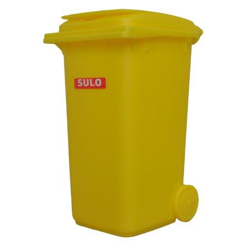 inal SULO große Ausführung 240 Liter GELB Miniatur Behälter Aufbewahrung Tischmülleimer Stiftehalter Büro Spielzeug Sammlerstück ()