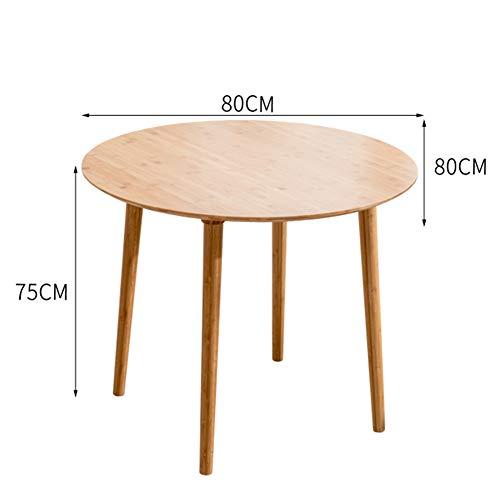 Klapptisch XUERUI Runder Rundtisch Aus Massivem Holz Einfache Faltbare Mode Bequem Dauerhaft (Farbe : 80 * 80cm) (Kaffee Runder Stühlen Tisch Mit)