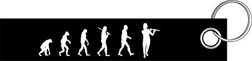 Querflöte Flöte Flötist Evolution Schlüsselanhänger Schlüsselband Keyholder Lanyard